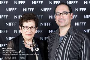 Ann Schnabel Mottier with Robert Israel - official photo taken by NIFFF photographer.