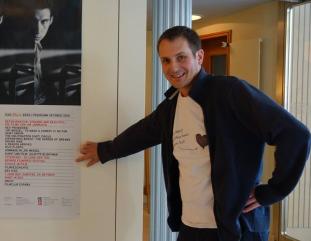 Projektleiter Raff Fluri beim Berner Filmpreis Festival 2016. Hier im Kino Rex Bern.