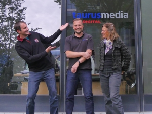 Proudly presenting: Hanne Junghans, Markus Altenberger, Raff Fluri (vrnl)