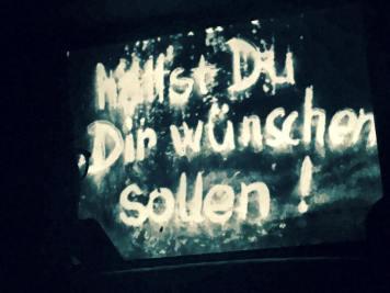 Auch Filmausschnitte wurden gezeigt. Hier: Das Kalte Herz mit Franz Schnyder in der Hauptrolle.