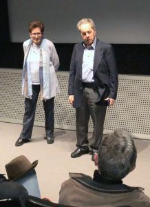 Ann Mottier-Schnabel and François Mottier at the screening of The Cold Heart. (c) Schnabel Music Foundation LLC