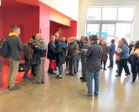 The audience is gathering for the first screening of The Cold Heart.