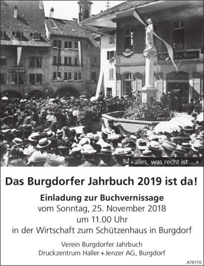 """Burgdorfer Jahrbuch mit einem Artikel über """"Das Kalte Herz"""" und Franz Schnyder."""