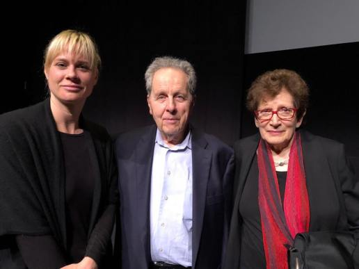 Sophie Lamparter, great niece of main actor Franz Schnyder, joined François and Ann Mottier-Schnabel