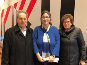 François Mottier, Susan Oxtoby (BAMPFA) and Ann Mottier-Schnabel (daugther of Karl Ulrich Schnabel)